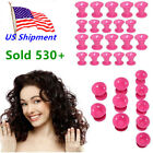 US Girl Women Mummy Silicone Hair Salon Magic Curlers Hair Curls Roller Styling