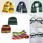 Harry Potter Scarf Tie Hat Gryffindor Slytherin Hufflepuff Ravenclaw Cosplay #WO