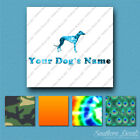 Custom Greyhound Dog Name Decal Sticker - 25 Printed Fills - 6 Fonts