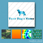Custom Duck Tolling Retriever Dog Name Decal Sticker - 25 Printed Fills  6 Fonts