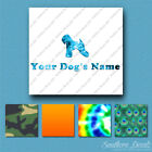 Custom Soft Wheaten Retriever Name Decal Sticker - 25 Printed Fills - 6 Fonts