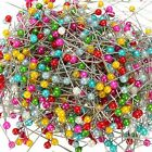 800 Pcs Round Pearl Head Dressmaking Pins Weddings Corsage Florists Sewing Pin