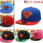 Children Kids Girl Boy Superman Hat Baseball Sun Cap Adjustable Outdoor Snapback