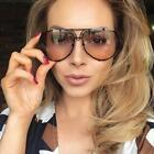 XL Posche OVERSIZED Huge Big Women Sunglasses Aviator Flat T