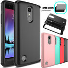 For LG Fortune/Phoenix 3/Rebel 2/M153 Shockproof Hybrid Armor Phone Case Cover
