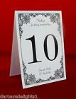 Personalised Table Numbers or Names (Vintage Lace)