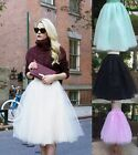Women 5 Layers Tutu Skirt Fancy Dress Fairy Party Princess Gauze Tulle Ballet