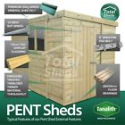 TOTAL PENT GARDEN WOODEN SHED