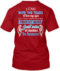 Just Miss My Grandma In Heaven - I Can Wipe The Tears Hanes Tagless Tee T-Shirt