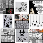 Letter Alphabet Number Layering Stencil Scrapbooking Embossing Paper Card Crafts