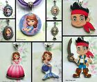SOFIA THE FIRST JAKE AND THE NEVERLAND PIRATES KEYRING CHARM NECKLACE LOCKET