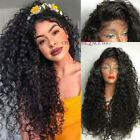 Curly Silk Top Lace Front Wigs Indian Remy Human Hair Wigs For African Americans