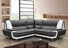 new karol corner sofa suite in faux leather black red brown cream white, cheap