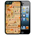 PERSONALIZED RUBBER CASE FOR iPHONE 7 6S 6 SE 5 5S 5C PLUS FALL PUMPKIN TEXT