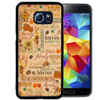 PERSONALIZE RUBBER CASE FOR SAMSUNG S8 S7 S6 S5 EDGE PLUS FALL AUTUMN PUMPKIN  -