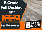 EVERYTHING INCLUDED IN 1 Easy To assemble Decking Kit B Grade Decking Boards