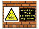 1032 Toxic hazard sign weatherproof Aluminium Plaque PVC or Vinyl Sticker