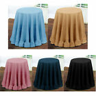 Ruffled Polyester Decorative Table Cloth 175cm Diameter ROUND
