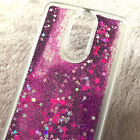 For LG Aristo / LG Fortune - Floating Liquid Waterfall Glitter Phone Case Cover