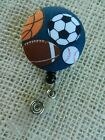 Sports Games Badge Reel~Retractable ID/Name Badge Holder Reel