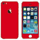 Apple iPhone 5s iPhone SE iPhone SE Red Matte Skin for Front and Back (CO)