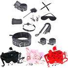 10Pcs Adults Restraint Cuffs Strap Whip Rope Neck Fun Lover Sex Toy S&M Gift