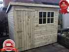 """Garden Shed Treated Timber Treated """"Hobby Pent"""" Tanalised Building"""