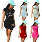 Kyпить UK Womens Ripped Letter Long Tops T-Shirt Ladies Casual Party Mini Dress Blouse на еВаy.соm