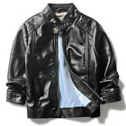 Rock punk Baby Kids boys leather Motorcycle coat black classic jacket 4-10 olds