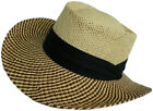 Paper Straw Gambler Hat 3869 Golf Theme Golfer Sun Fisherman Summer Hiking