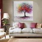Framed Modern Abstract Tree Flowers Art Canvas Print Painting Picture Wall Decor