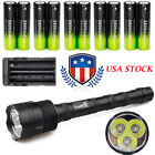 CreeT6 3x LED Flashlight Tactical 48000lm Torch Light*18650 Battery*Charger USA
