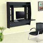 15MM Chipboard Exquisite Room-saving Wall Built-up Computer Desk Black