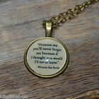 """Winnie the Pooh Quote """"Promise me you'll never..."""" picture pendant necklace 20mm"""