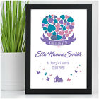 Baby Girl Christening Baptism Naming Day Gift - Personalised Goddaughter Print