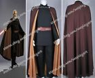 Star Wars Attack of the Clones Count Dooku Cosplay Brwon Cape Uniform Well Made
