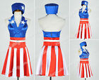 captain america the avengers suit - The Avengers Captain America Cosplay Costume Dress Suit Red White Stripes Skirt