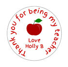 Personalised Thank You For Being My Teacher Round Stickers Labels