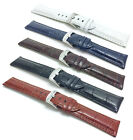 18-30mm XL Leather Watch Band Strap, Comes in Black, White, Blue, Brown, Tan image