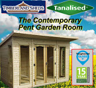 8x6 Summerhouse Contemporary Style T&G Heavy Duty Tanalised shed garden room