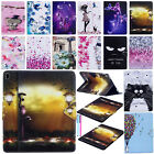 Painted Smart Magnet Leather Card Folio Stand Case Cover For Ipad 9.7 2017/2 3 4