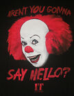 """NEW MENS """"IT THE MOVIE PENNYWISE CLOWN CHARACTER"""" T SHIRT, Scary Horror Tee"""