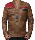 MENS STAR WARS FINN JACKET DISTRESSED BROWN LEATHER JACKET XL, SMALL | QUICKSHIP $99.42 USD