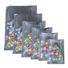 100 Variety of Sizes for Heat-Sealable Clear Silver Shiny Foil Open Top Bag M4
