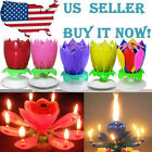 Magic Party Birthday Candle Cake Topper Blossom Musical Lotus Flower Fast Ship