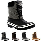 Womens Rubber Sole Deep Tread Winter Textile Fur Cuff Snow Rain Boots UK 3-10