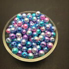 Wholesale 4/6/8/10mm Acrylic Round Pearl Spacer Loose Beads Jewelry Making Diy C