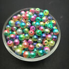 Wholesale 4/6/8/10mm Acrylic Round Pearl Spacer Loose Beads Jewelry Making Diy B