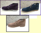 Romers Mens Boys Ladies Genuine Leather Suede Two Eye Desert Boots Sizes 3-8