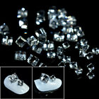 25pcs/pack 3D Cube Square Glass Rhinestone Shiny Clear Crystal Nails Beads Decor